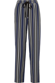 Agnes striped silk wide-leg pants