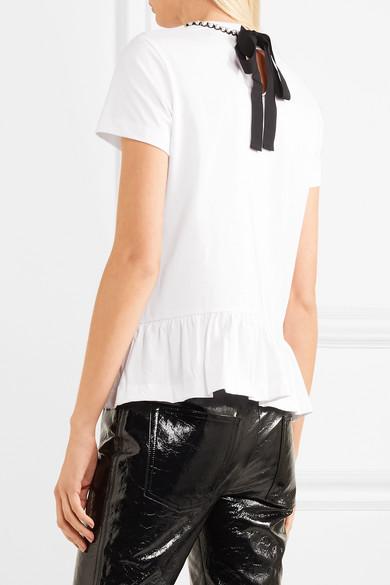 Markus Lupfer Heart Arrow No7 T-Shirt aus Stretch-Baumwoll-Jersey mit Applikationen und Verzierungen