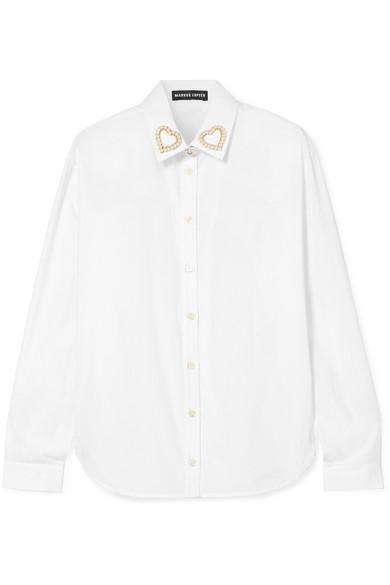 Markus Lupfer Clara verziertes Hemd aus Baumwollpopeline