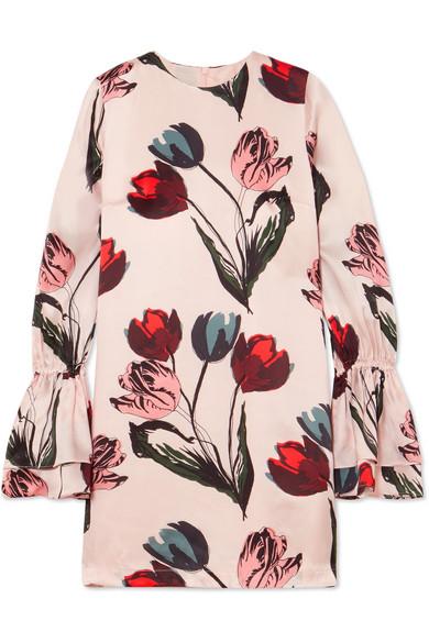 Mother of Pearl Morgan floral bedrucktes Kleid aus Seidensatin