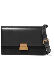 Saint Laurent Bellechasse medium textured-leather and suede shoulder bag