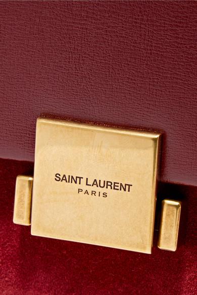 Saint Laurent Bellechasse Schultertasche aus Leder und Veloursleder