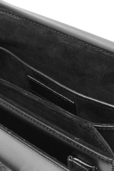 Saint Laurent Bellechasse mittelgroße Schultertasche aus Leder
