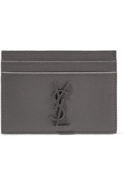 Saint Laurent Textured-leather cardholder
