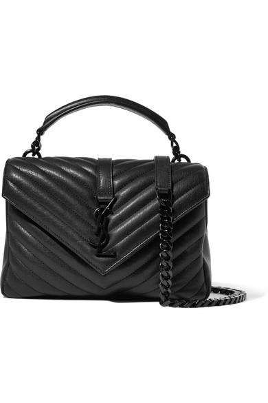 Saint Lau College Medium Quilted Leather Shoulder Bag Net A Porter Com