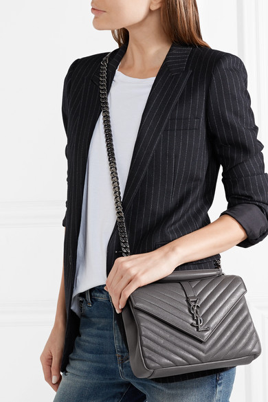 a0963b545a76 College medium quilted leather shoulder bag. £1