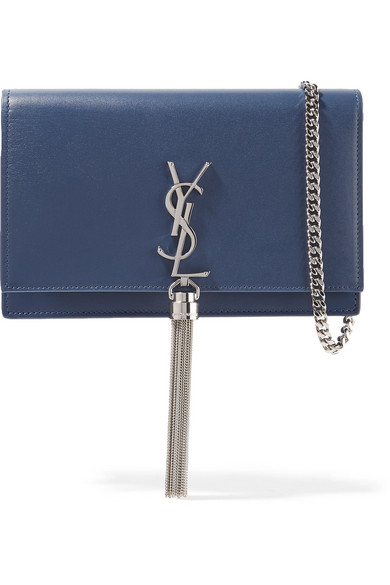 Saint Laurent Monogramme Kate kleine Schultertasche aus Leder