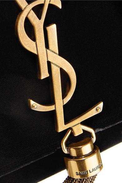Exklusive Verkauf Online Saint Laurent Monogramme Kate kleine Schultertasche aus Samt Original Discounter Footaction Online voPCfe