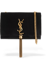 Saint Laurent Monogramme Kate small velvet shoulder bag
