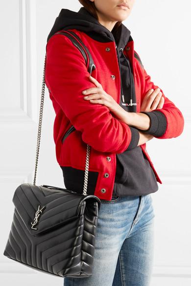 c7cfe2f53db Saint Laurent. Loulou medium quilted leather shoulder bag