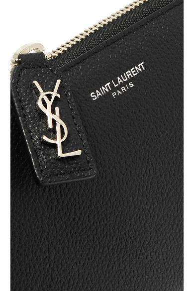 Saint Laurent Rive Gauche Wallet In The European Style Of Patterned Leather