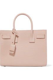 Sac De Jour baby croc-effect leather tote