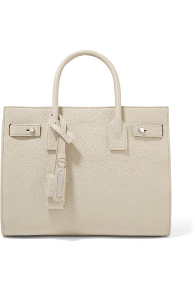 Sac De Jour Baby Textured Leather Tote by Saint Laurent