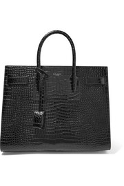 Saint Laurent Sac De Jour small croc-effect leather tote
