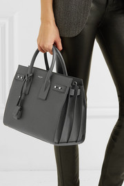Saint Laurent Sac De Jour small textured-leather tote