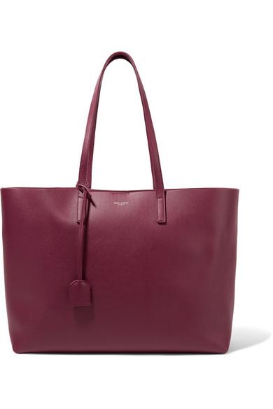 Saint Laurent - Shopper Large Textured-leather Tote - Merlot