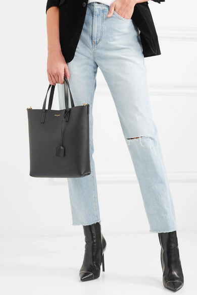 Saint Laurent Shopper Tote aus strukturiertem Leder