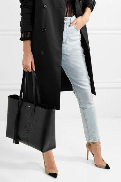 f240865508 Saint Laurent. Shopper perforated leather tote