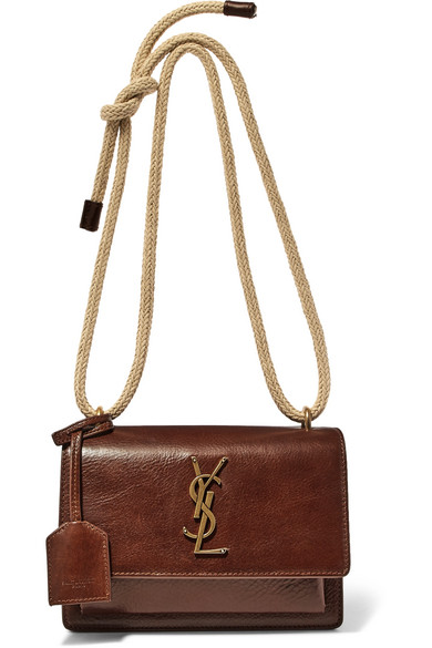Saint Laurent. Sunset small textured-leather shoulder bag 021dccb240fee