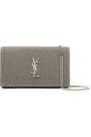 Saint Laurent Textured-lamé  shoulder bag
