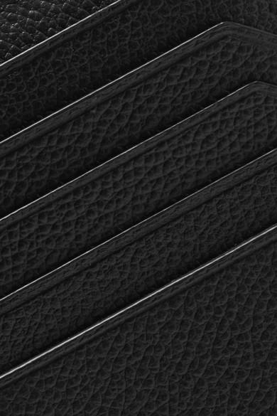 Saint Laurent Kartenetui aus strukturiertem Leder