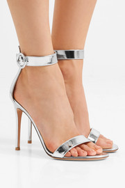 Portofino 105 metallic leather sandals