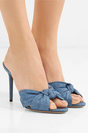 Lola knotted denim mules