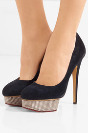 The Dolly suede platform pumps