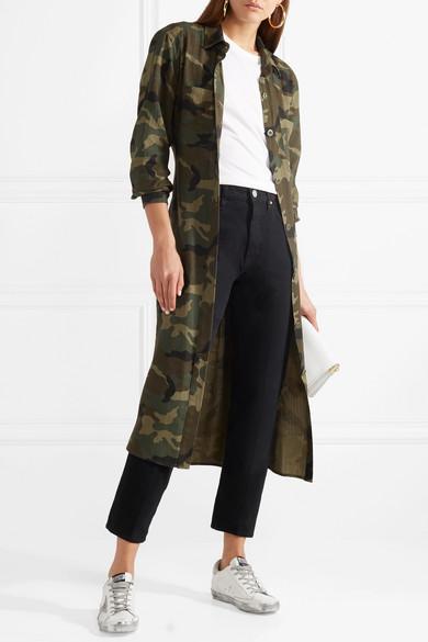AMIRI Hemd aus einer Baumwoll-Kaschmirmischung mit Camouflage-Print