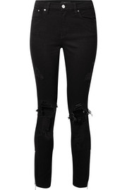 AMIRI Thrasher distressed high-rise skinny jeans