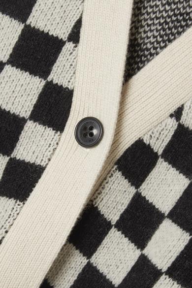 AMIRI Karierter Cardigan aus einer Kaschmir-Wollmischung
