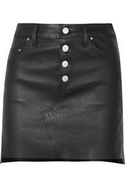 AMIRI Leather mini skirt