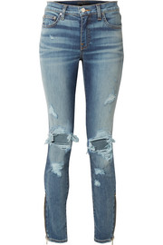 AMIRI Thrasher hoch sitzende Skinny Jeans in Distressed-Optik