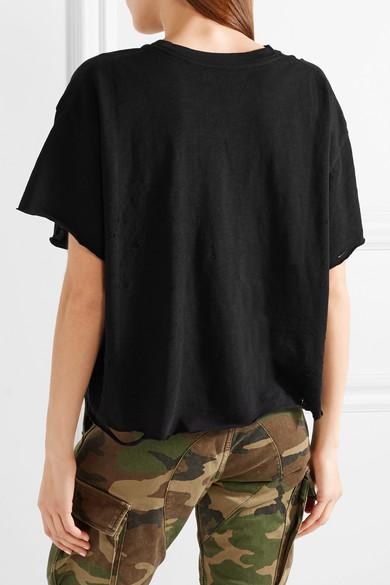 AMIRI Slash T-Shirt aus Baumwoll-Jersey in Distressed-Optik