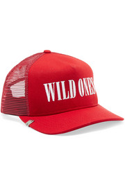 AMIRI Wild Ones embroidered canvas and mesh baseball cap