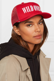 Wild Ones embroidered canvas and mesh baseball cap