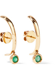 Ana Khouri Matilde 18-karat gold emerald earrings