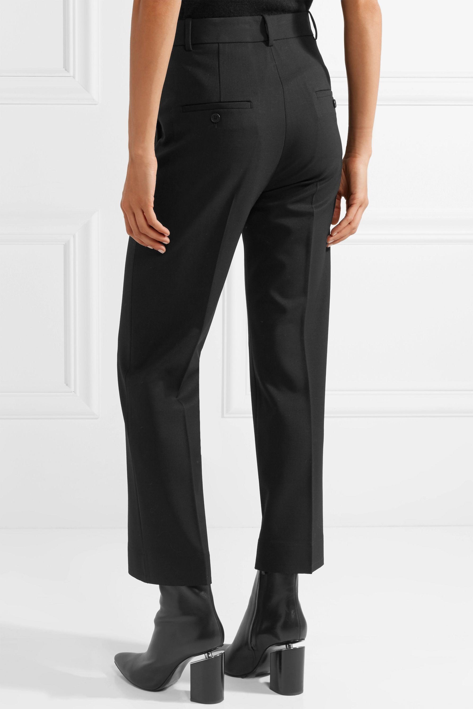 Helmut Lang Cropped stretch-wool twill wide-leg pants