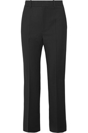 Helmut Lang Cropped stretch-wool twill wide-leg pants