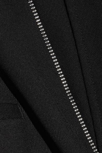 Helmut Lang Hose aus Twill aus einer Wollmischung mit geradem Bein und Reißverschlussdetails