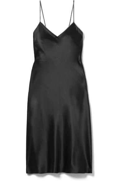 Embellished Silk Satin Mini Dress by Helmut Lang