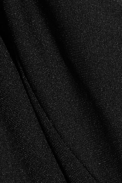 Helmut Lang Oberteil aus Stretch-Jersey mit asymmetrischer Schulterpartie