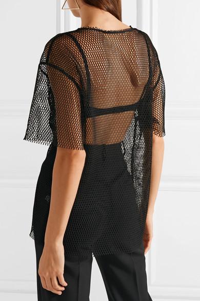 Helmut Lang Courtney T-Shirt aus Netzmaterial