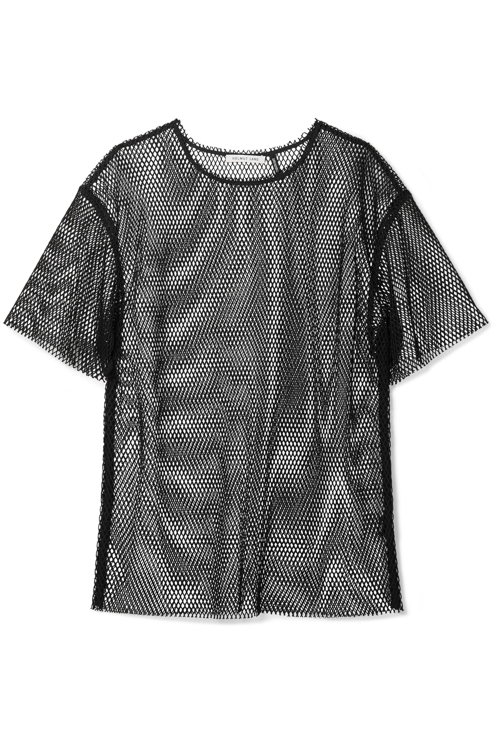 Helmut Lang Courtney fishnet T-shirt