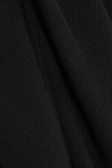 Helmut Lang Pullover aus einer Wollmischung in Distressed-Optik mit Cut-out