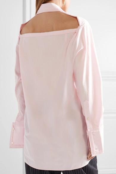 Helmut Lang Oversized-Hemd aus Baumwollpopeline mit Cut-out