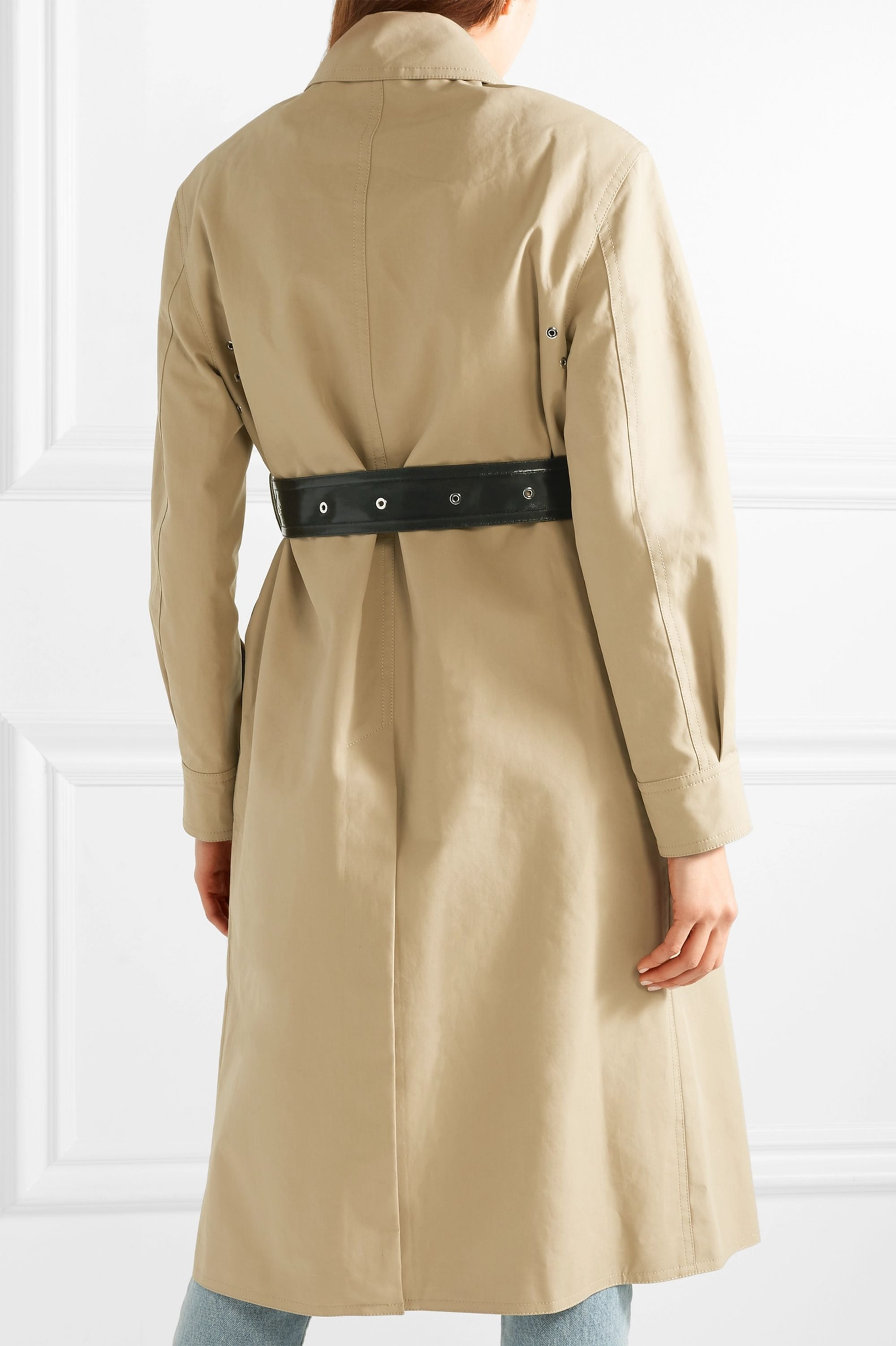 Helmut Lang Belted cotton-canvas trench coat