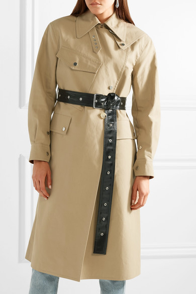 timeless design b5b26 493ac Belted cotton-canvas trench coat
