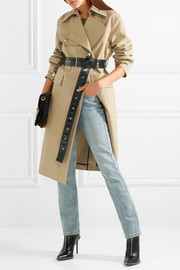 Belted cotton-canvas trench coat
