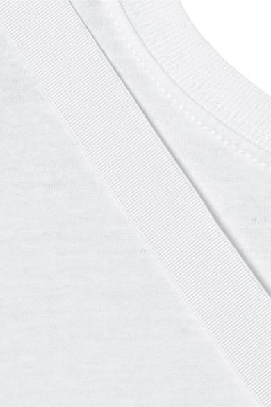 Helmut Lang T-Shirt aus Jersey aus Stretch-Baumwolle mit Rückenausschnitt